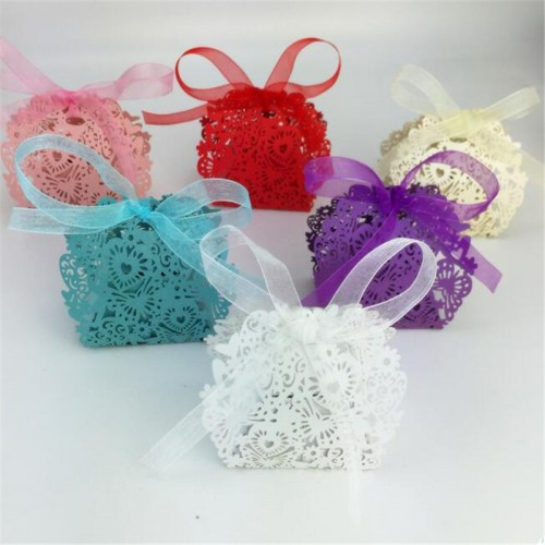 Wedding favors Decor Butterfly Candy Gift Boxes Wedding Party Candy Box with Ribbon