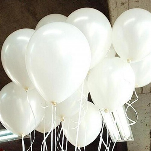 White Latex Balloons Helium Party Wedding Birthday Party Balloon