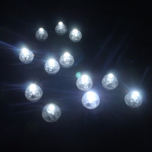 White Round Led Ball Lamps Mini Lantern Balloon Light For New Year Wedding