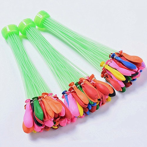 XUN ZHE Water Balloon 3 Bunches 111pcs Quickly Filling water balloons pump summer beach toys for