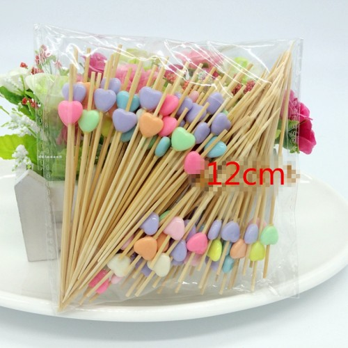 Decoration Bamboo Food Picks Cupcake Toppers Fruit Fork