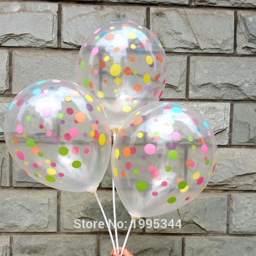 polka dots balloon Transparent balloon colorful dots printing birthday party