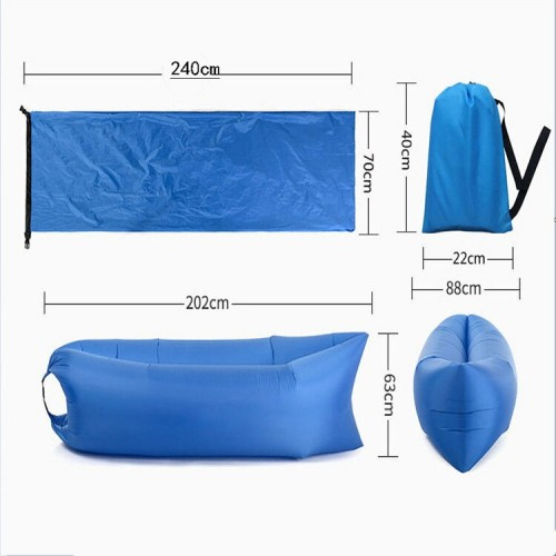 Outdoor Camping Bed Lazy Bag Inflatable Bed Air Sofa Portable Sleeping Pad