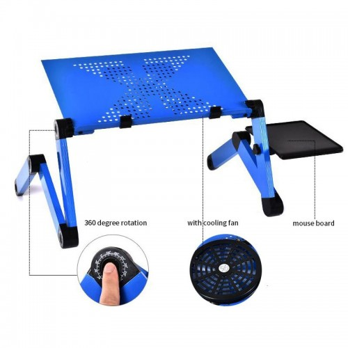 Aluminum Alloy Laptop Table Adjustable Portable Folding Computer Desk Students Dormitory Laptop Table Stand Tray