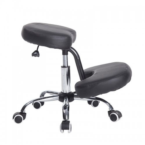 Kneeling Posture Chair Adjustable Knee Chair Ergonomic Working Stool Fabric Leather Cushion Seat For Home Office