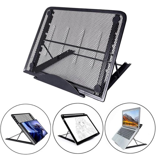 Mesh Ventilated Adjustable Laptop Stand Portable Folding Light Box Laptop Pad Stand Portable Folding Light Box