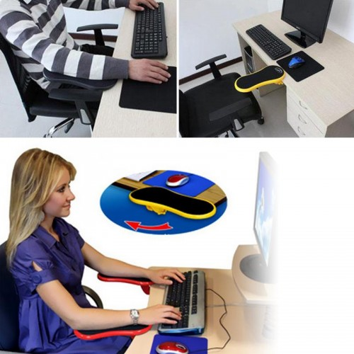 Smartlife Desk Attachable Computer Table Arm Support Mouse Pads Arm Wrist Rests Hand Shoulder Protect Pad