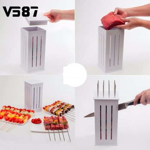 BBQ Maker Kabob Maker Meat Skewer Kebab Maker Box Machine Beef Meat Maker