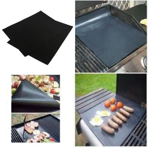 BBQ grill mat for barbecue grill sheet cooking and baking and microwave