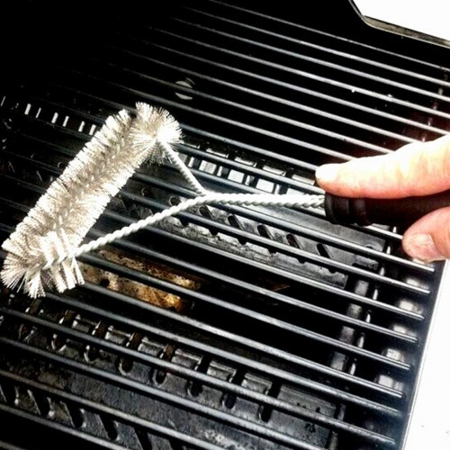 Barbecue Grill BBQ Brush Stainless Steel Wire Bristles Cleaning Brushes With Handle