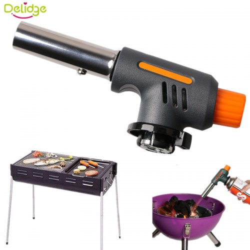 Delidge Barbecue Igniter Stainless Steel Plastic Lighters Outdoors BBQ Party High Temperature Flamethrower Kitchen