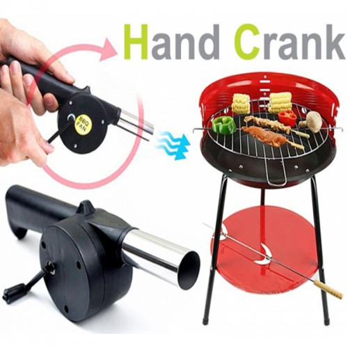 New barbecue tools fan air blower Hand Fan Cranked for Outdoor Picnic