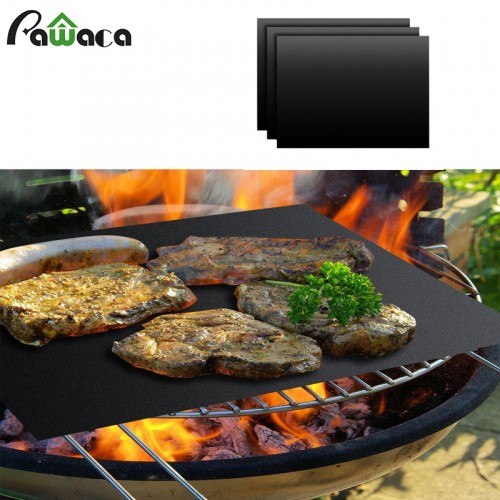 PTFE Non stick BBQ Grill Mat Barbecue Baking Liners Reusable Teflon Cooking Sheets