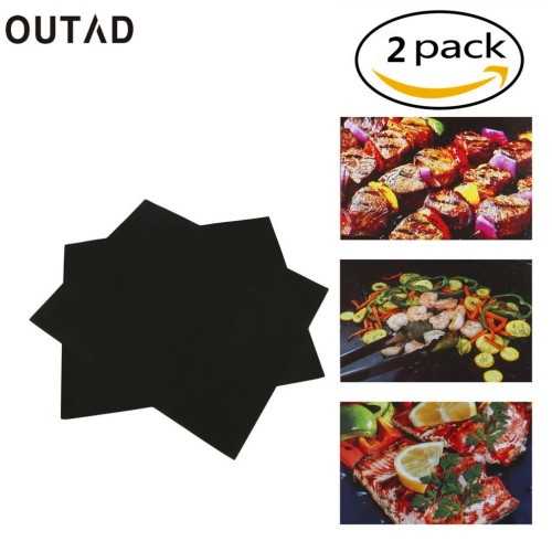 Reusable Non Stick BBQ Grill Mat Pad Baking Sheet Meshes Portable Outdoor Picnic