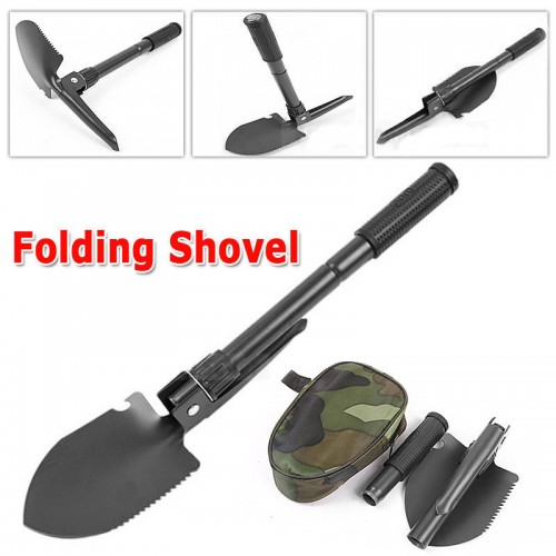 BRAND Military Portable Folding Shovel Survival Spade Trowel Dibble Garden Camping