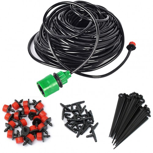 Drip Irrigation Kit Set Plants Watering System Automatic Plant Garden Hose Kits Connector