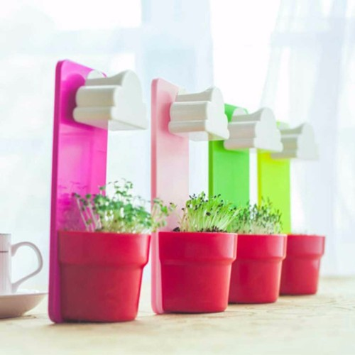 1 set 2017 Super Deal Colorful Creative Cloud Hanging Plant Flower Pot Planter Home Garden Rainy