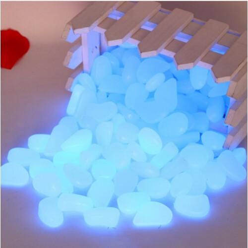 100pcs bag Gravel For Your Garden Yard Glow in the Dark Pebbles Stones for Walkway Wedding