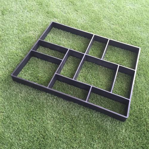 Free Shipping Rectangle Garden paving plastic mold for garden concrete molds garden path DIY Stone model