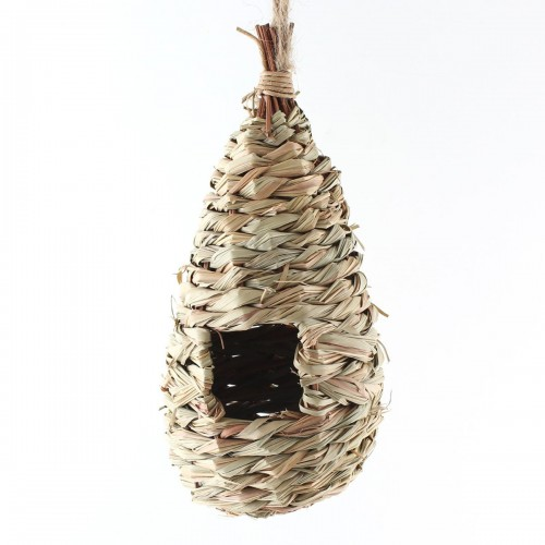 Natural Grass Woven Hanging Birdhouse Nest Bird Cages House Parrot Cage Bird Toys Small Pet Hamster