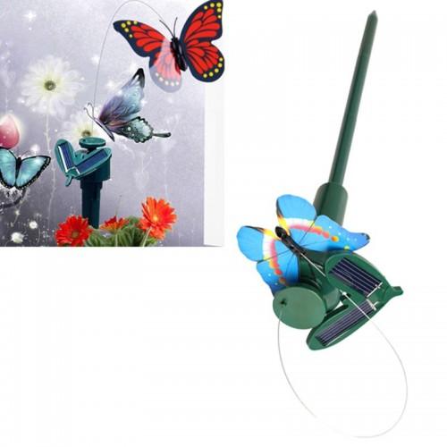 New 2016 Vibration Solar Power Dancing Flying Fluttering Butterflies Hummingbird Garden Decor