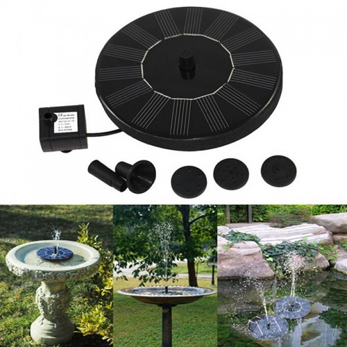 Qualified solar power fountain water pump spray floating for Garden pool accessories