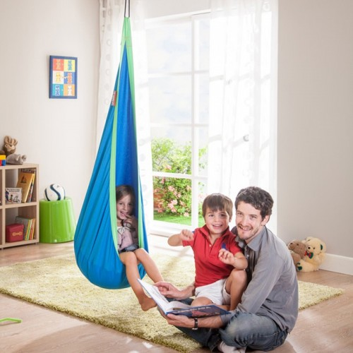 Children Hammock Inflatable Cushion Garden Swing Chair Indoor Outdoor Hanging Seat Child