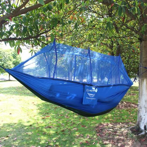 Double Parachute Mosquito Net Hammock Chair Hamak Rede Garden Swing Camping Amaca Hangmat