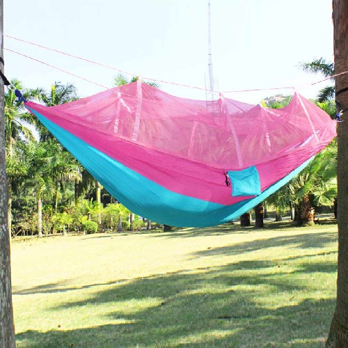 Furniture Portable Anti mosquito bites Hammock Parachute Fabric Mosquito Net for Indoor Outdoor Camping Using