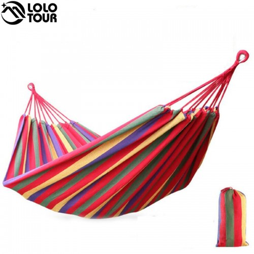 Hammock outdoor Leisure bed hanging bed double sleeping canvas