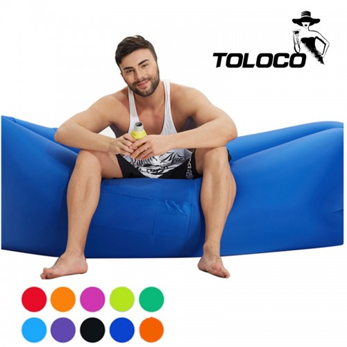 Inflatable Air sofa Fast Inflatable Laybag Sleeping Sofa Banana Beach Sofa Lounger Bed