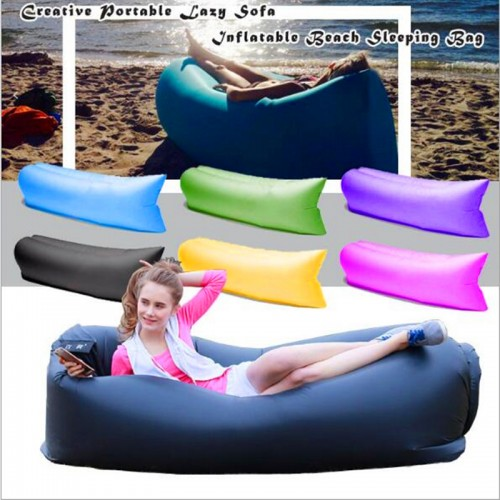 Inflatable laybag Sleeping Bag Leisure Hang out Lounger Air Camping Sofa Beach
