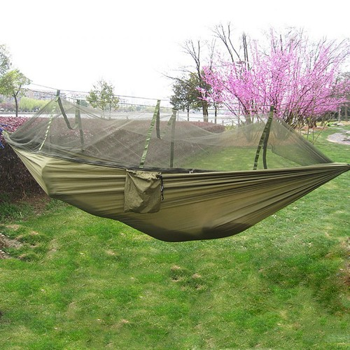 New Handy Portable Hammock Single person Folded Into The Pouch Mosquito Net Hammock