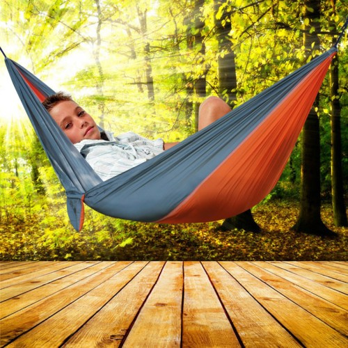 Outdoor Portable Hammock 2 Persons Recreation Camping Picnic Camping Garden Leisure Travel Hammock
