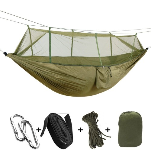 Person Outdoor Mosquito Net Parachute Hammock Camping Hanging Sleeping Bed