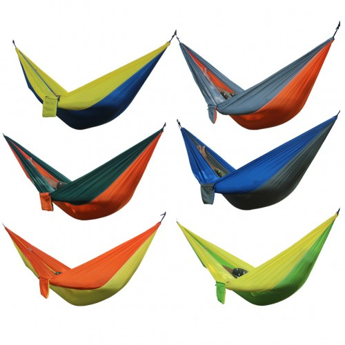 Portable Hammock Double Person Camping Survival garden hunting Leisure travel Parachute Hammocks