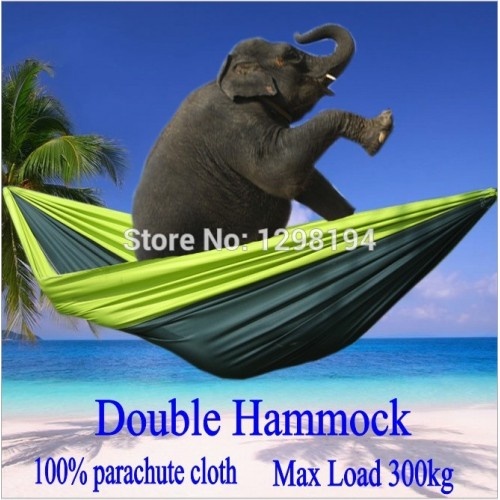 Portable Nylon Parachute Double Hammock Garden Outdoor Camping Travel Furniture Hammock Swing Sleeping Bed