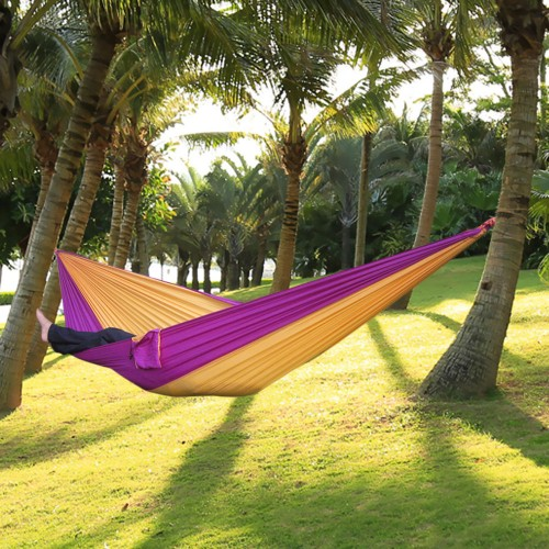 Portable Nylon Single Person Hammock Parachute Fabric Hammock For Travel Hammock 17