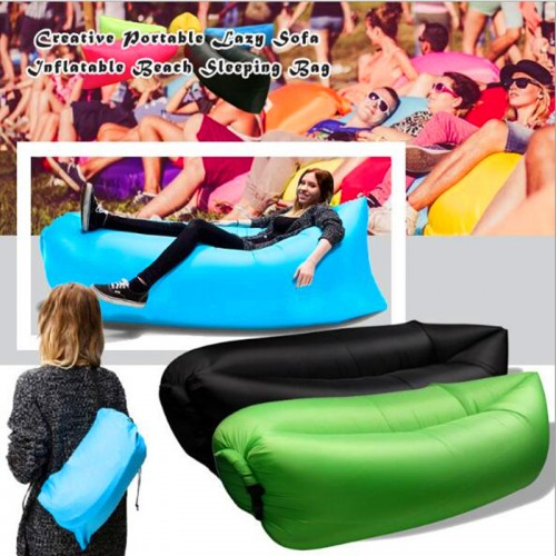 Quick Inflatable laybag Sleeping Bag Leisure Hang out Camping Sofa Beach Nylon Fabric