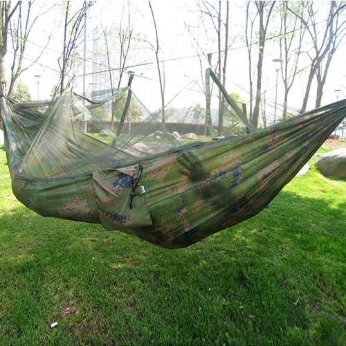 Selling Portable Hammock Single person Folded Into The Pouch Mosquito Net Hanging