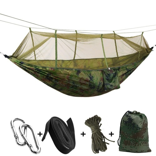 Ultralight Outdoor Camping Hunting Mosquito Net Parachute Person Hamaca