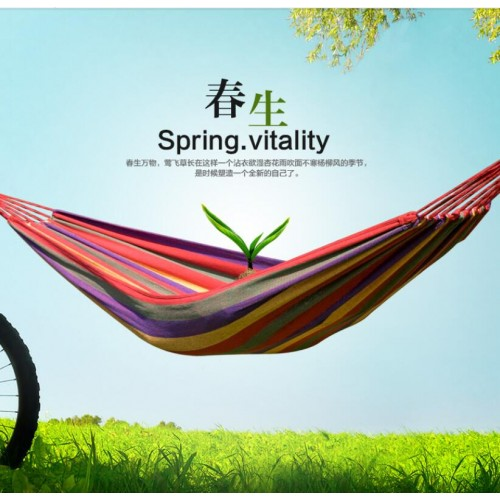 free shipping two Person hammock cotton hammock tourism camping hunting Leisure Fabric Stripes Outdoor