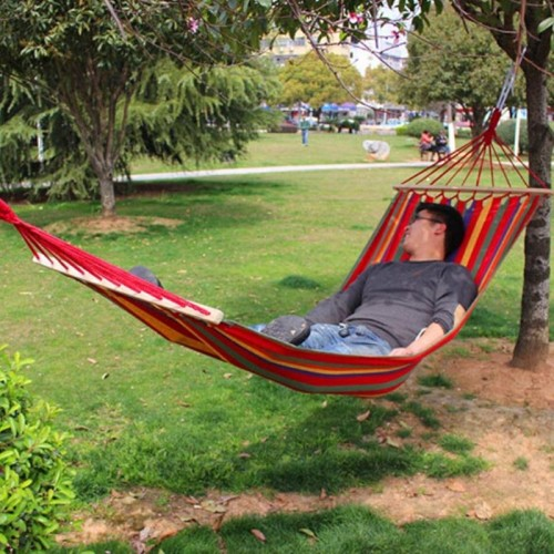 styles Canvas Hammock Outdoor Camping Hammocks Garden Hanging Bed Hammock