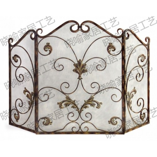 High grade wrought iron floor mantel Wai flameproof enclosure fire