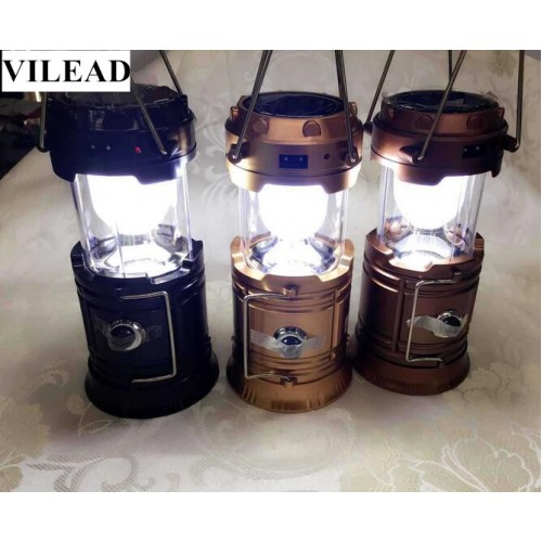 Multi functional Bright Lightweight LED Solar Charge Lantern Outdoor Portable Light Water Resistant