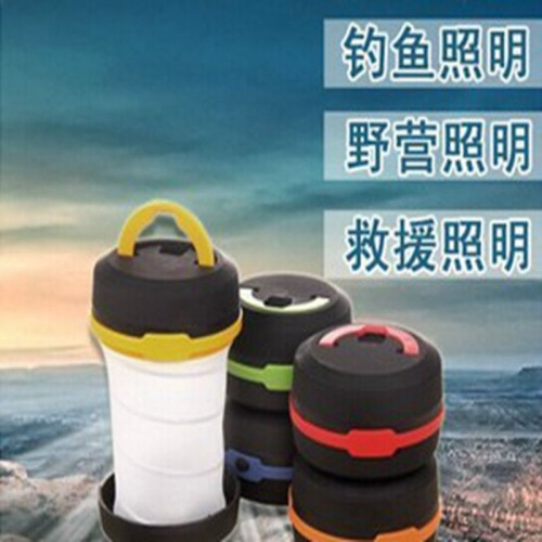 Telescopic rainproof camping telescopic portable camping tent camping lamp lantern light