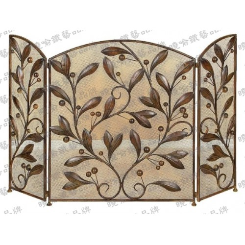 Wrought iron floor mantel Fire fireplace surrounds Fire screen