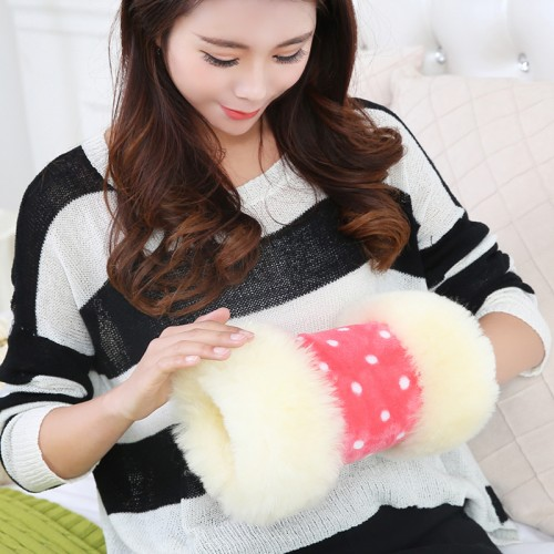 fur wool Hand Po really warm fur baby warm Hand warmer Wool warmer Hand
