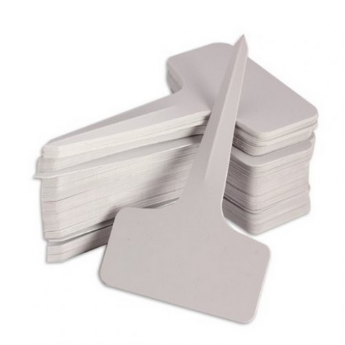Plastic Plant T type Tags Markers Nursery Garden Labels Gray