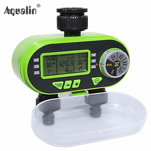 New Arrival Two Garden Digital Electronic Water Timer Valve Garden Irrigation Controller